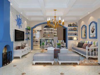 2020地中海120平米装修效果图片 2020地中海二居室装修设计