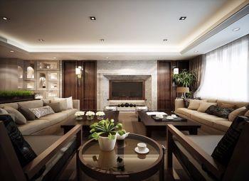 120平现代中式舒适两居装修案例