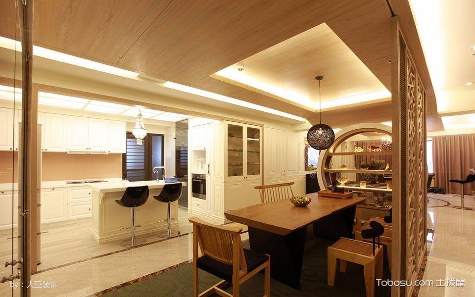 厨房白色吧台混搭风格装修图片