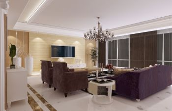 清新现代欧式三居室小复式装修图片