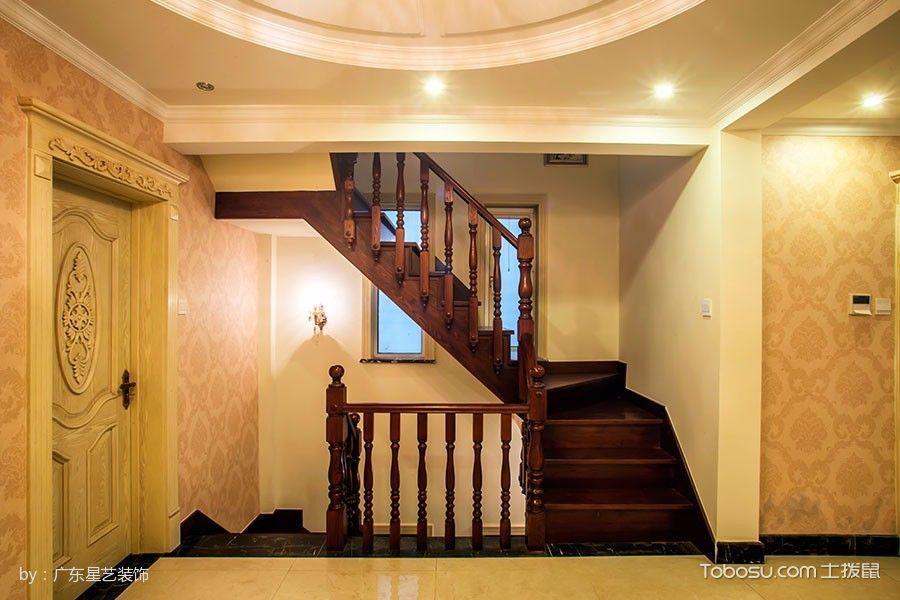 楼梯_红磡美式乡村风格别墅装修案例图
