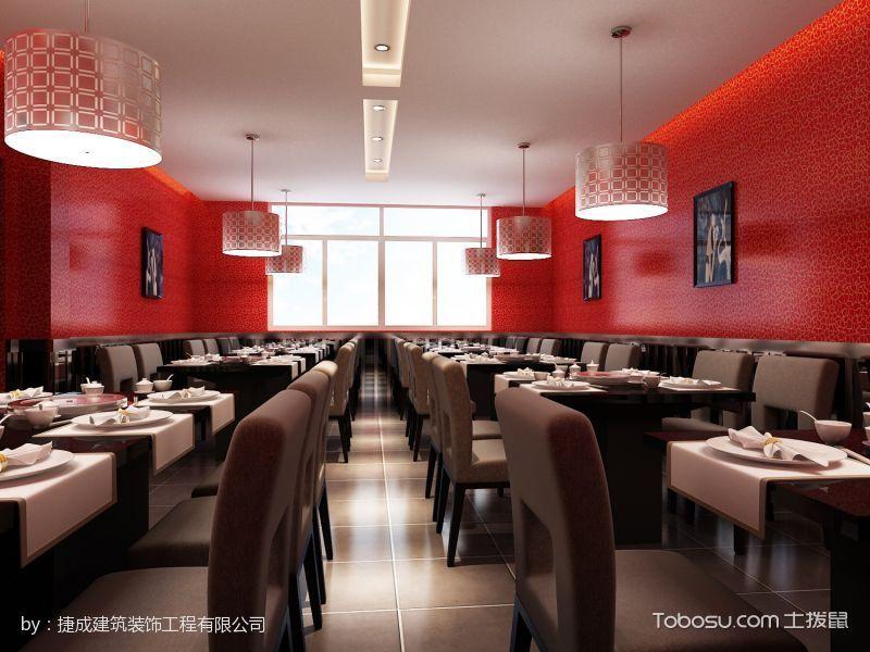 重庆火锅鸡餐馆餐区背景墙装修设计