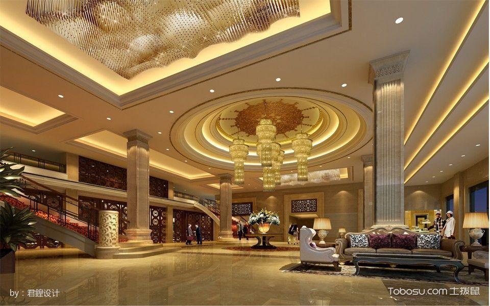五星级商务酒店大堂吊顶装饰效果图