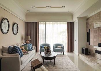 滨湖名邸简洁美式风格二居室装修图片