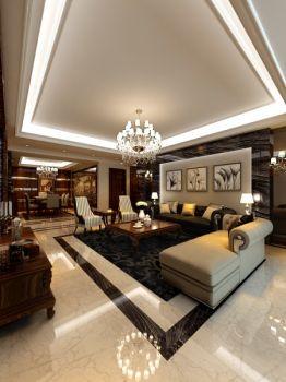 长久中心三居室新古典装修效果图