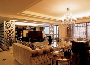 三居室家庭欧式风格装修图片