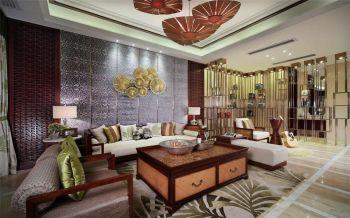 东南亚风情家庭三居装修图片