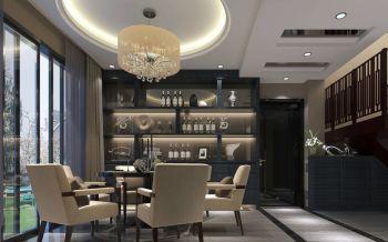 本案例原结构为280平米的3房顶层复式,在设计沟通中根据客户的需求设计成一套5房3厅1厨3卫的空间。虽然房子的空间是比较大,但客户追求的是一种简单不复杂的感觉,所以在设计的同时考虑材质方面相对都是比较有特殊质感的,亮光的银镜,全抛釉的地砖,深色的墙纸,以及简单的墙面索色。在设计墙面造型,顶面造型方面得话,都不会表现出很复杂。整个室内空间都会相互对比,比如色调的对比,家具,软件的配饰搭配,展现出一个不一样的室内效果空间。