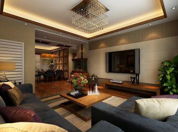 碧湖云溪80平米小户型家居中式新古典装修效果图