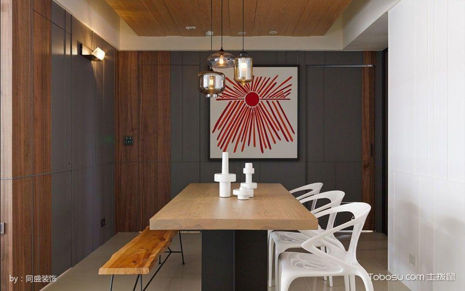 餐厅灰色背景墙北欧风格装修图片