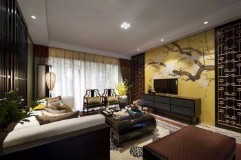 水墨兰庭三居室中式新古典装修效果图