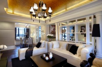 盛世天城简欧风格三居室装修图案例