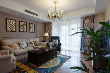 橡树湾美式风格四居室家装案例图