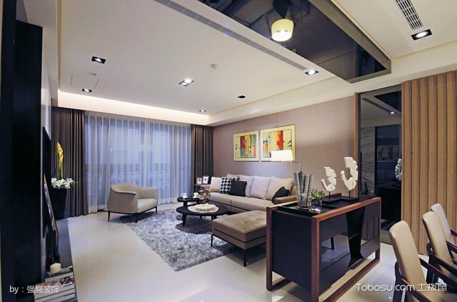 华府庄园3室2厅1卫混搭风格装修效果图