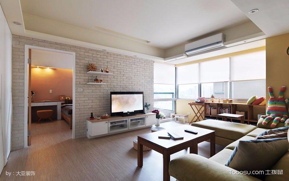 客厅 背景墙_南大暖东简单风三居装修效果图