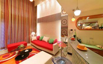 现代简约复式彩色三房装修效果图