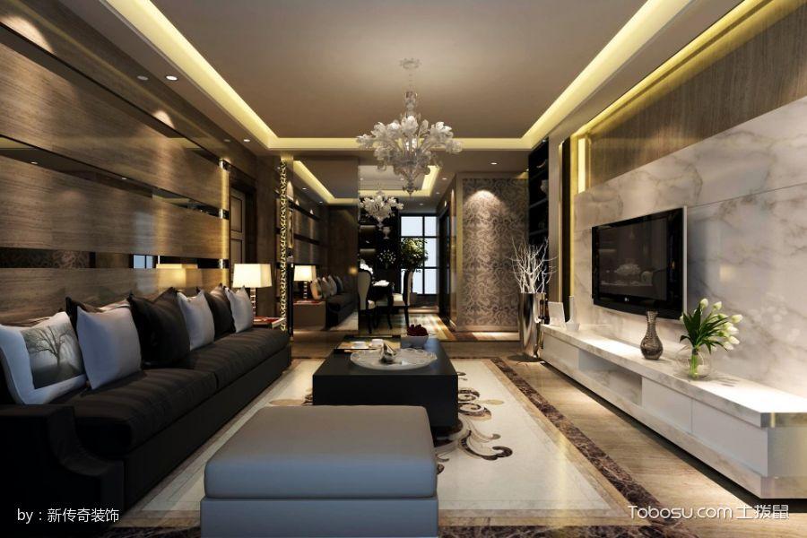 天使水榭湾现代欧式三房风格装修效果图