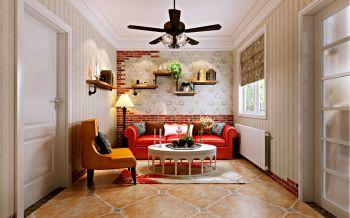60平田园乡村小户型两房两厅一卫一厨装修效果图