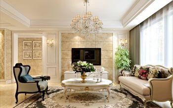 融科城三室两厅户型简约欧式风格装修效果图