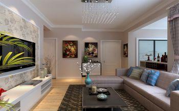 海怡新城106平现代简约设计装修效果图