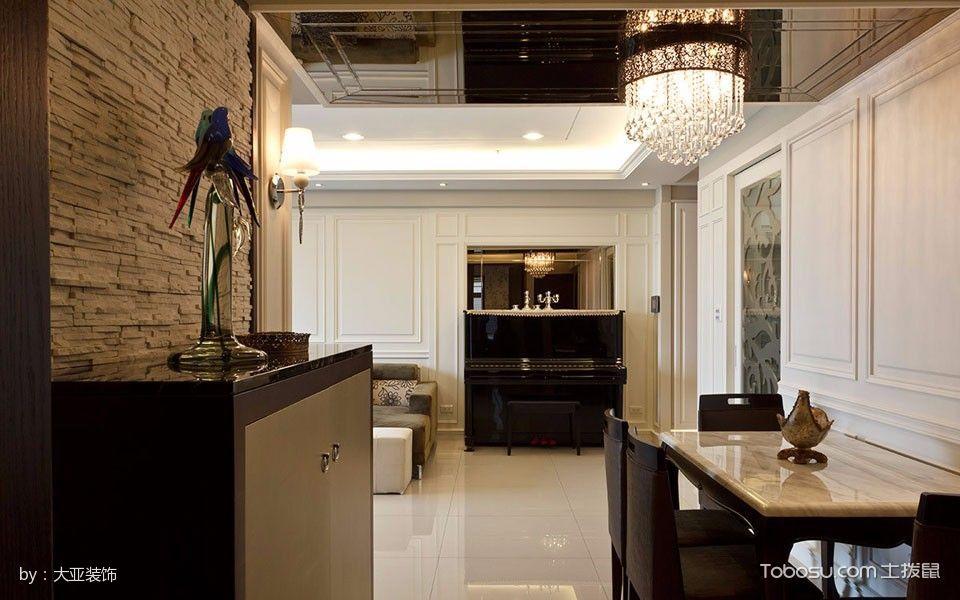 餐厅咖啡色走廊混搭风格装修设计图片