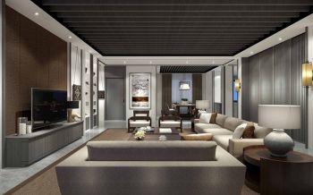 现代韩式风三居室设计效果图