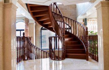 欧式典雅风格木质别墅装修案例图