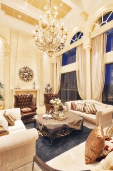 简奢美式三居室装修效果图