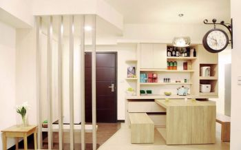 60平米简约小户型2房2厅装修案例图