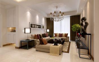 华地润园三室两厅现代欧式风格装修效果图