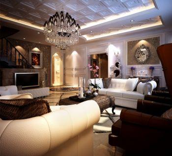 龙湖艳蓝海岸现代欧式风格四居室装修图案例