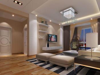 现代简约都市豪华两房家居装修案例图