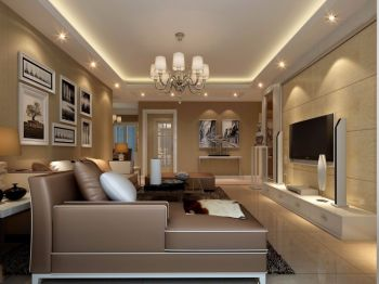 110平三房两厅现代简约案例图片