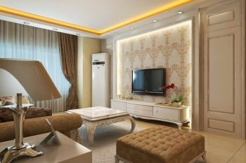 二居室户型简欧风装修案例图