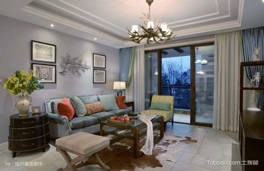 金地艺境清新美式三居室装修图片