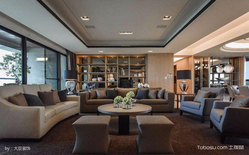 客厅黄色博古架现代风格装修设计图片