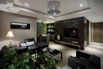 现代简约风格三室家庭装修图片