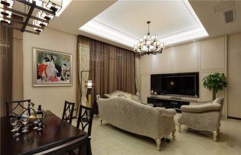 简欧风格设计小复式家居装修图片