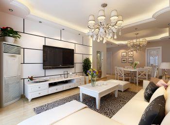 百商月澜山现代简约风格三居室设计效果图