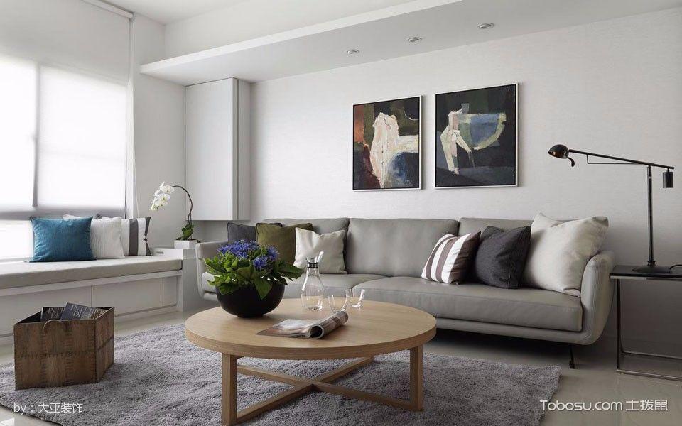客厅灰色榻榻米简约风格装饰效果图
