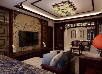三居室家庭中式古典装修效果图欣赏