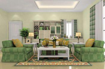 翡翠城时尚清新简约型家庭三居室装修效果图