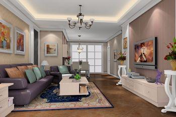 竹华里三居室美式简约风格装修效果图