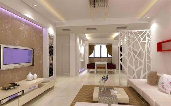 鸿运阳光城现代简约二居室装修案例图