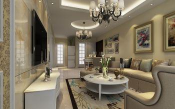 中铁国际城品园100平方二居室现代欧式装修效果图