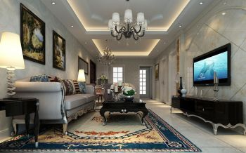 2020欧式110平米装修图片 2020欧式三居室装修设计图片