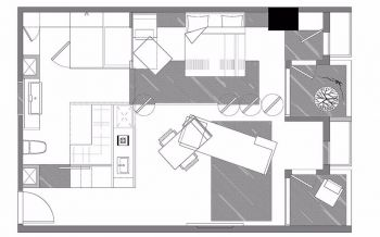 2019简约60平米装修效果图片 2019简约一居室装饰设计