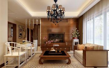 海亮九玺三室两厅新中式风格装修效果图