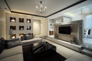 90平舒适家装现代风格套房装修效果图