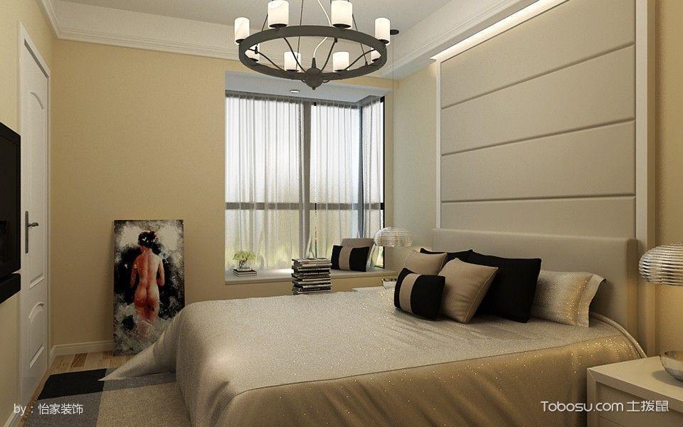 客厅米色飘窗简约风格装饰设计图片